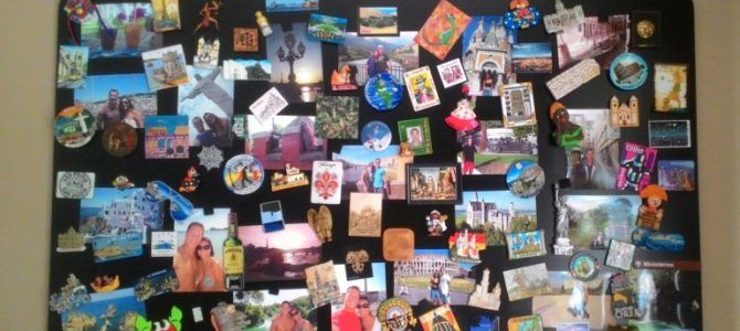 Minha Coleção de Ímãs: a coleção da Andressa